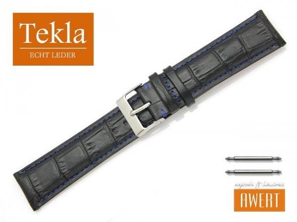 TEKLA 22 mm XL pasek skórzany PT41 niebieskie szycie