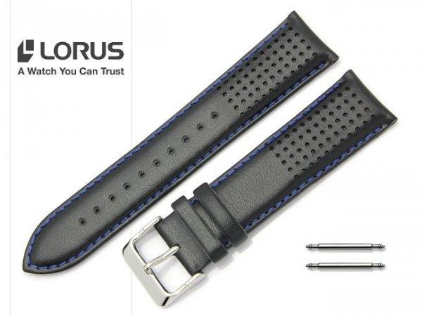 LORUS 22 mm oryginalny pasek 918365 czarny