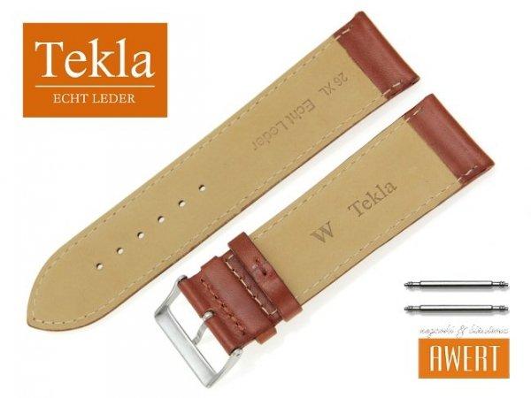 TEKLA 26 mm XL pasek skórzany PT68 brązowy
