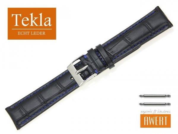 TEKLA 20 mm XL pasek skórzany PT41 niebieskie szycie