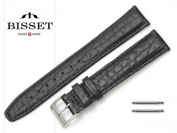 Pasek skórzany do zegarka 18 mm BISSET BS104 czarny