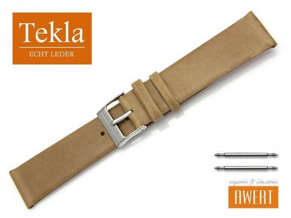 Pasek do zegarka TEKLA PT26 skórzany 20 mm brązowy