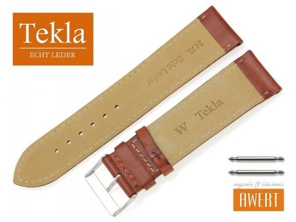 TEKLA 24 mm XL pasek skórzany PT68 brązowy