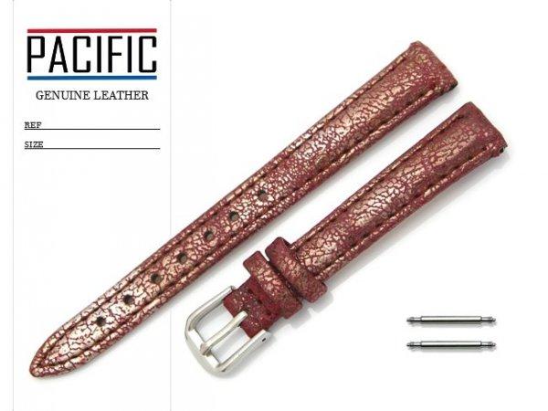 PACIFIC 12 mm pasek skórzany W123 bordowy