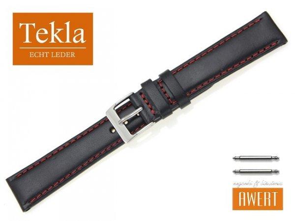 TEKLA 18 mm pasek skórzany PT68 czerwone szycie