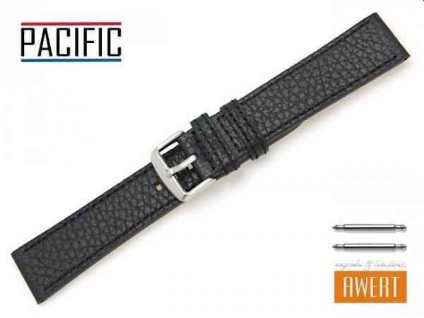 PACIFIC 22 mm pasek skórzany W92 czarny W92-1BL-22