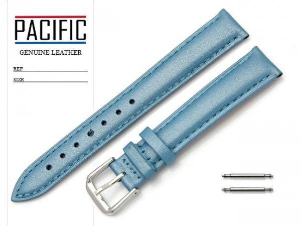 PACIFIC W114 pasek skórzany 16 mm niebieski