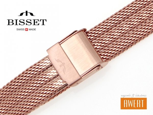 BISSET 14 mm bransoleta stalowa mesh BM103 złota