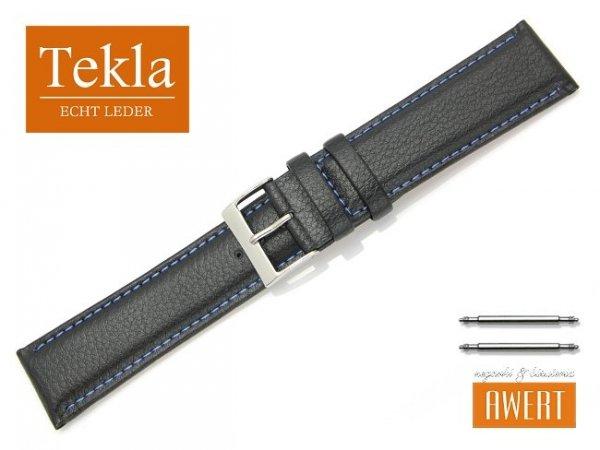 TEKLA 24 mm XL pasek skórzany PT10 niebieskie szycie