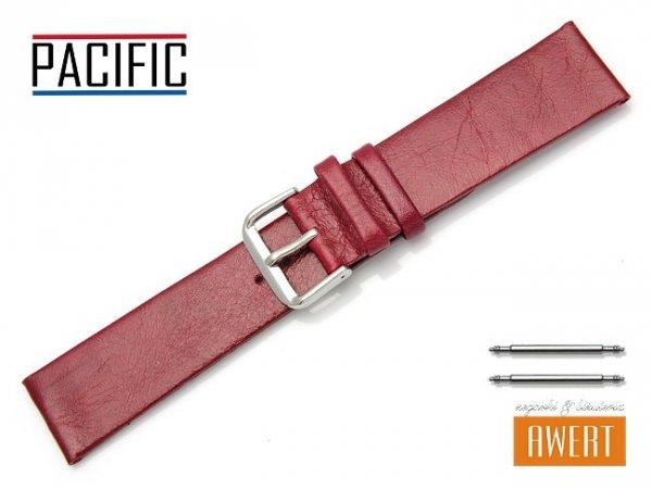 PACIFIC 22 mm pasek skórzany W86 czerwony