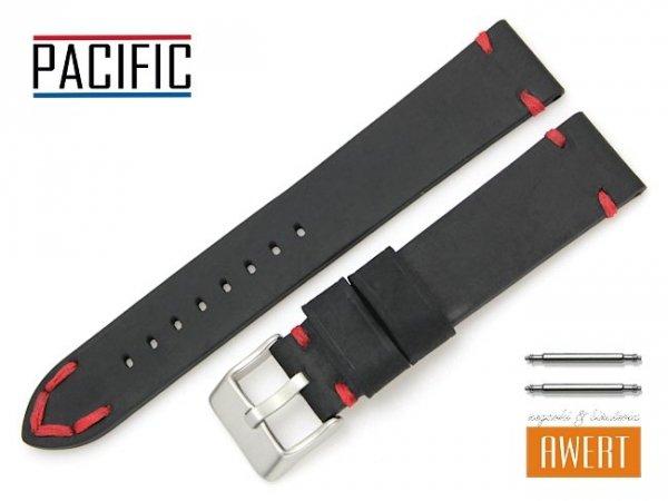 PACIFIC 20 mm pasek skórzany W93 czarny W93-1RE-20