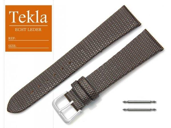 Pasek skórzany do zegarka 20 mm TEKLA PT34 brązowy