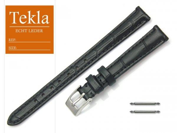 Pasek skórzany do zegarka 12 mm TEKLA PT41 czarny