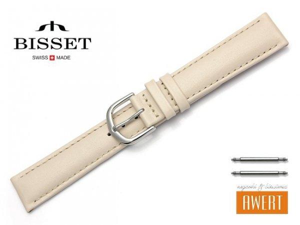 Pasek skórzany do zegarka 18 mm BISSET BS114 beżowy