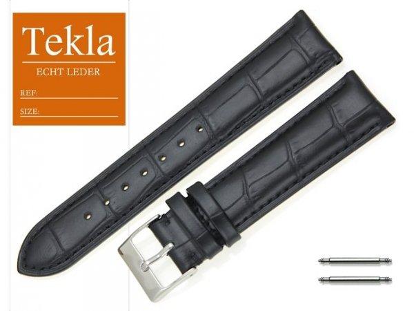 TEKLA 20 mm pasek skórzany PT25 czarny