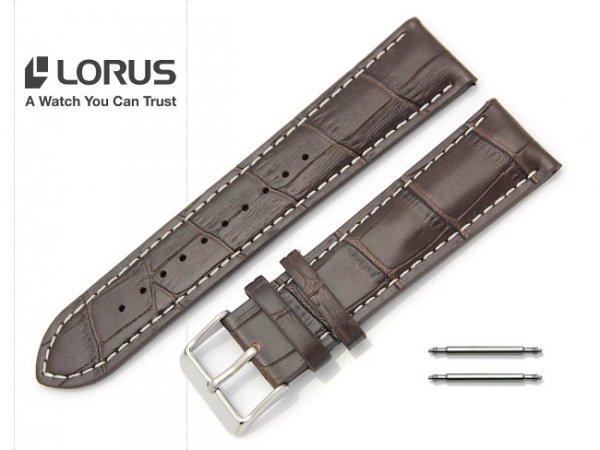 LORUS 22 mm oryginalny pasek 917498 brązowy