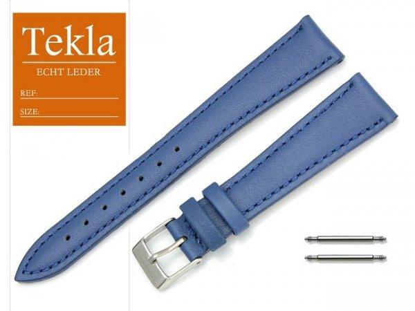 TEKLA 18 mm pasek skórzany PT09 niebieski