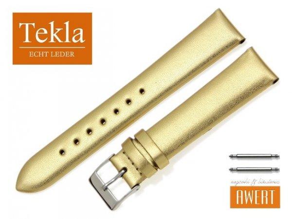 TEKLA 18 mm pasek skórzany PT11 złoty