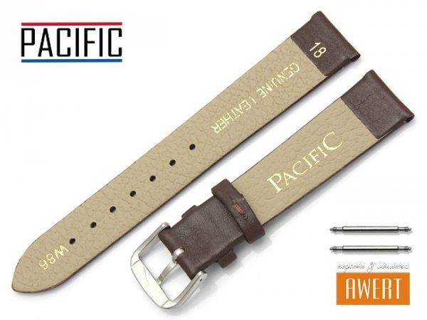 PACIFIC 18 mm pasek skórzany W86 brązowy