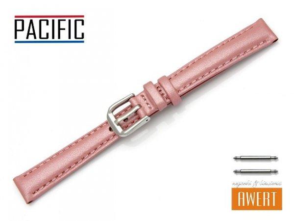 PACIFIC W114 pasek skórzany 14 mm różowy