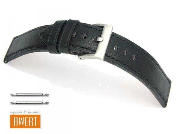 TEKLA PT51 pasek skórzany 24 mm czarny