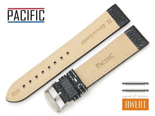 PACIFIC 22 mm pasek skórzany W92 czarny W92-1WH-22
