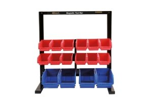 16 Storage Bin System c/w Magnetic Bar For Tool Storage