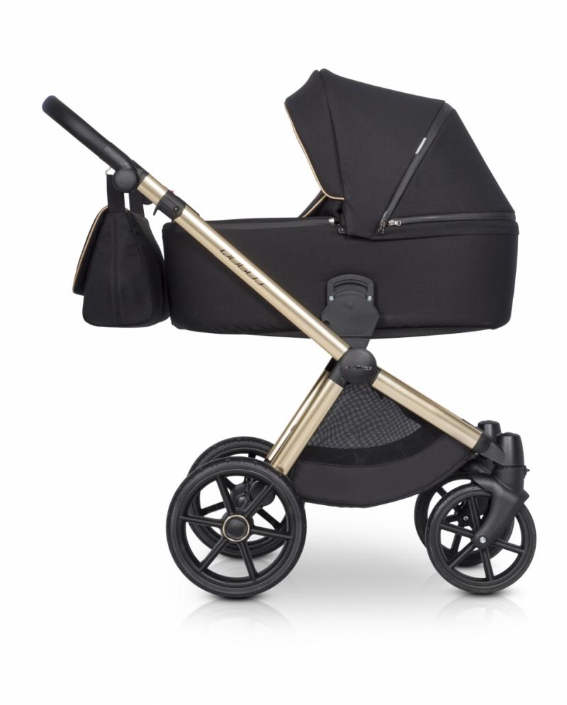 Wózek 3w1 Riko czarno złoty