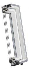 OPTILIGHT PVC Dachfenster TLP U4 3-fach-Verglasung Uw= 1,1 Schwingfenster aus Kunststoff PVC Profile in Weiß / Boden Griff / ENERGIE with triple glazing, ohne Dauerlüftung