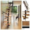 Mittelholmtreppen modular Systemtreppen ATRIUM DIXI PLUS  RAL 9005 Schwarz 11 Stufen Natürliche Erle mit einem zusätzlichen Geländer  Modular Systemtreppe Mini-Treppen Geschosshöhe: 222 - 300 cm Anzahl Steigungen: 11 Stk.