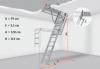 Bodentreppe OLE-B MINI 4-teilige 60x94 70x94 aus Holz U=1,13 weiße Öffnungsklappe Holzbodentreppe Dachbodentreppe + Handlauf
