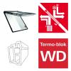 Dachfenster Roto Designo RotoComfort i89G WD elektrisches Klapp-Schwingfenster blueTec aus Kunststoff mit Wärmedämmblock