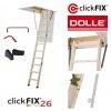 Dolle Bodentreppen ClickFIX ® 26 Gold aus Holz Dachbodentreppe Stiege Klapp H4U www.house-4u.eu