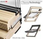 VELUX Dachfenster GLL 1061 3-fach-Verglasung Uw= 1,1 Schwingfenster aus Holz mit Dauerlüftung ThermoTechnology
