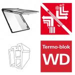 Dachfenster Roto Designo WDF R89P K WD Klapp-Schwingfenster aus Kunststoff blueTec Plus mit Wärmedämmblock