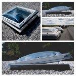 VELUX Flachdach-Fenster CVP 0073U manuell betätigt, Basis-Element, U=0,87 W/m²K *Incl. Kuppel, Tageslicht für flache Dächer, PVC-Rahmen, P2A-Verbundsicherheitsglas ausgestattet