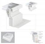 VELUX ZCE 0015 Adapterkranz 15 cm  (Adapterkranz mit Flansch, Farbe grau*)