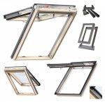 Dachfenster VELUX GPL 3050 Klapp-Schwingfenster Uw=1,3 aus Holz mit Riesen-Öffnungswinkel Thermo-Star Standard Verglasung