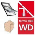 Dachfenster Roto R4 Designo WDF R45 H WD AL  Uw=1,3  blueLine Schwingfenster aus Holz mit Wärmedämmblock