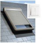 Außenrollladen Fakro ARZ Electro 230 V mit Wandschalter, Außenrollladen, Rollladen, Außenrollo, Automatische Rollladen, Aluminium