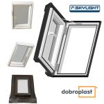 Ausstiegsfenster Dobroplast PVC Skylight Loft 55x78 aus Kunststoff - Dachluken inkl. Eindeckrahmen / - Dachausstieg - Dachluke - Dachfenster