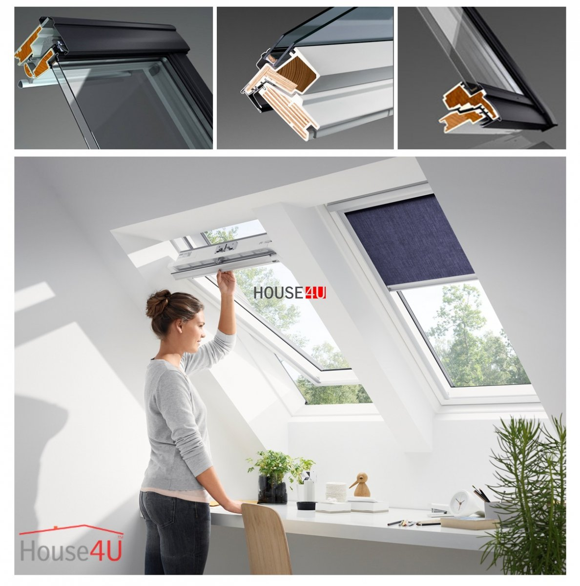 velux dachfenster ggu 0068 kunststoff schwingfenster 3. Black Bedroom Furniture Sets. Home Design Ideas
