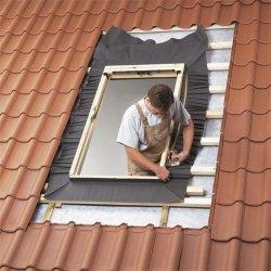 Eindeckrahmen Velux EW 0000 für Austauschfenster, Dacheindeckung hochprofiliert, Aluminium, für profilierten Eindeckmaterialien von 1,5 bis 12 cm Höhe