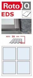Kombi-Eindeckrahmen Roto Q-4 EDS 2/2 Eindeckrahmen - für Flachdecken und profilierte Eindeckmaterialien bis max. 35 / Dachziegel oder Bitumenschindeln Schiefer