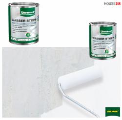 Wasserstopp Schimmelstopp Ultrament 1kg / 2,5 m2 Weiß 2 in 1 - Farbe und Abdichtung