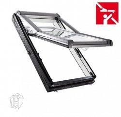 Dachfenster Roto Designo R75 K 134x140 WD Hoch-Schwingfenster aus Kunststoff blueLine mit Wärmedämmblock