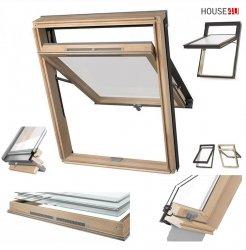 Dakea Dachfenster Better View KHV B1000 (Bessere Sicht) Hoch-Schwingfenster Holz-Fenster klar lackiert, Uw=1,3 2-Fach, mit Dauerlüftung, Untere-Griff, Verbundsicherheitsglas, VSG - Inneschiben laminiert