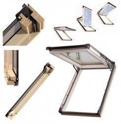 Dachfenster Kipp-Schiebefenster Okpol ISKV E2  Uw= 1,2 Holz klar lackiert