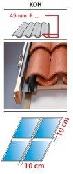 Kombi Eindeckrahmen 2/2 Oman KOH für hochprofilierte Eindeckmaterialien 45 - 90mm