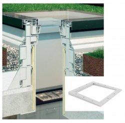 Aufsetzkranz Fakro XRD/A für Flachdach-Fenster Typ F und G  Erhöht den Montagegrad um 3 Grad